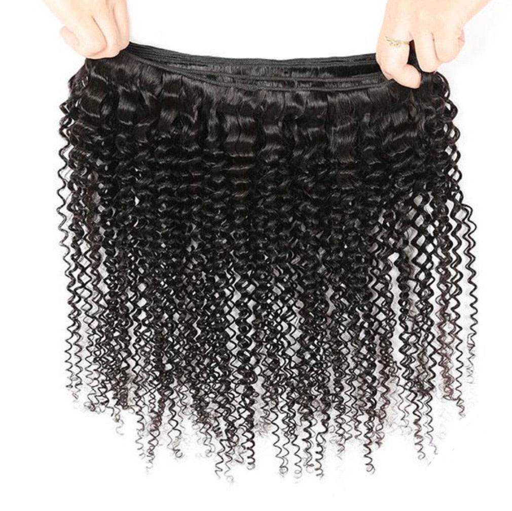 Curly Virgin Human Hair Extensions 1 Bundle