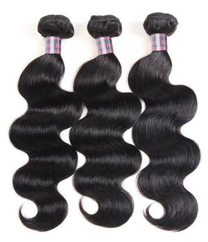 3 Bundles  With 5*5 Closure Body Wave/ Straight