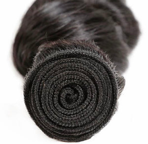 Loose Wave Virgin Human Hair Extensions 1 Bundle