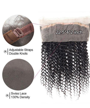 Kinky Curly Human Hair 360 Lace Frontal