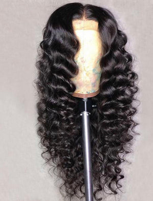 13*4 Loose Deep Human Hair Wigs Lace Front Wig