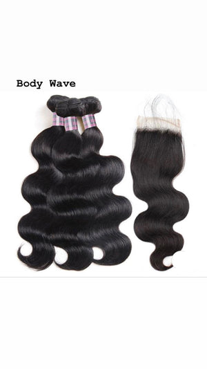 Indian 3 Bundles With 4*4 Closure