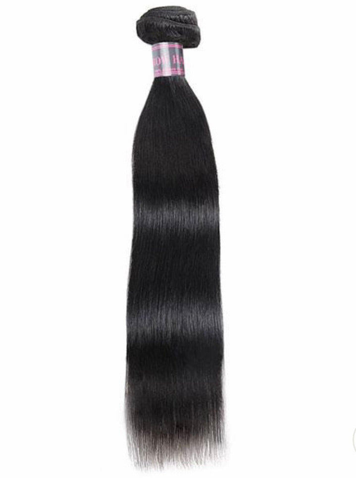 Straight Virgin Human Hair Extensions 1 Bundle