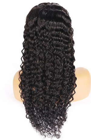 13*4 Deep Wave Human Hair Wigs Lace Front Wig