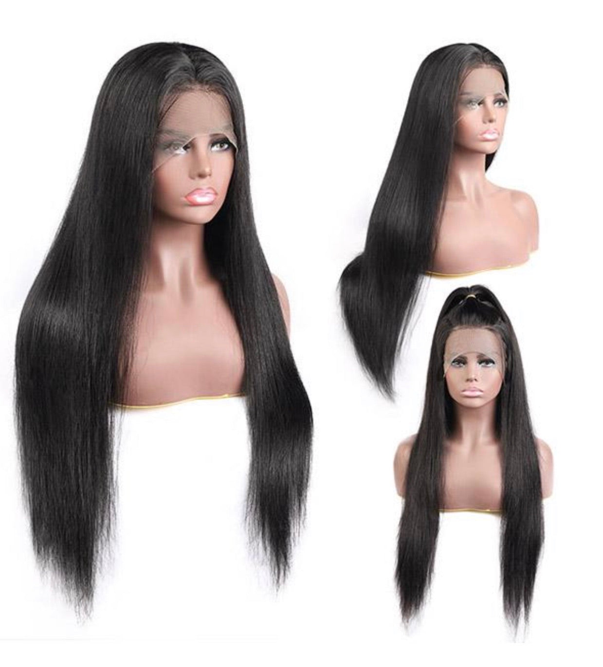 13*4 Straight Human Hair Wigs Lace Front Wig