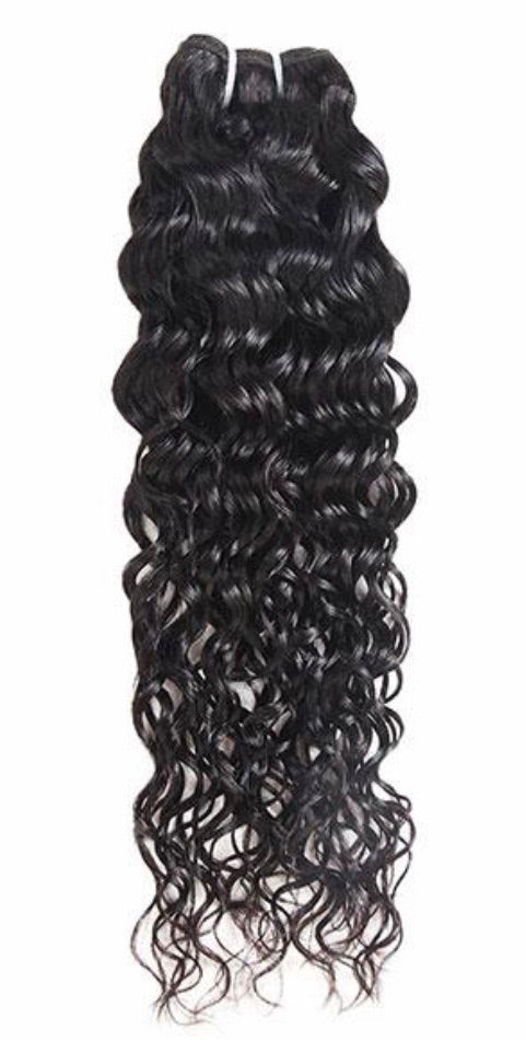 Water Wave Virgin Human Hair Extensions 1 Bundle