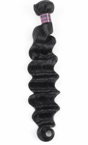 Loose Deep Virgin Human Hair Extensions 1 Bundle