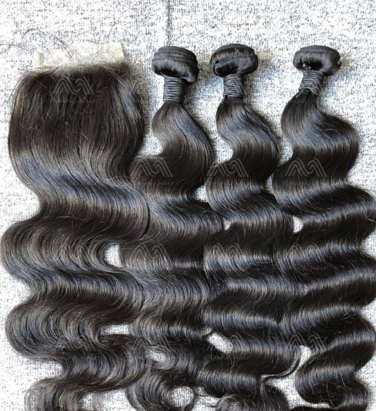 Mink Hair Straight/Body Wave 3 Bundles With 4x4 Closure Deals