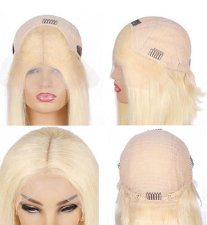 13*4 Straight Bob 613 Blonde Human Hair Wigs Lace Front Wig