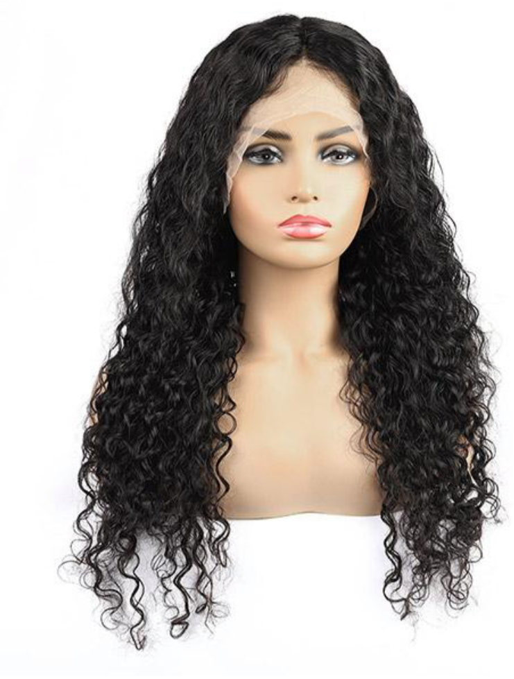 13*4 Water Wave Lace Front Wig Transparent Lace Wig