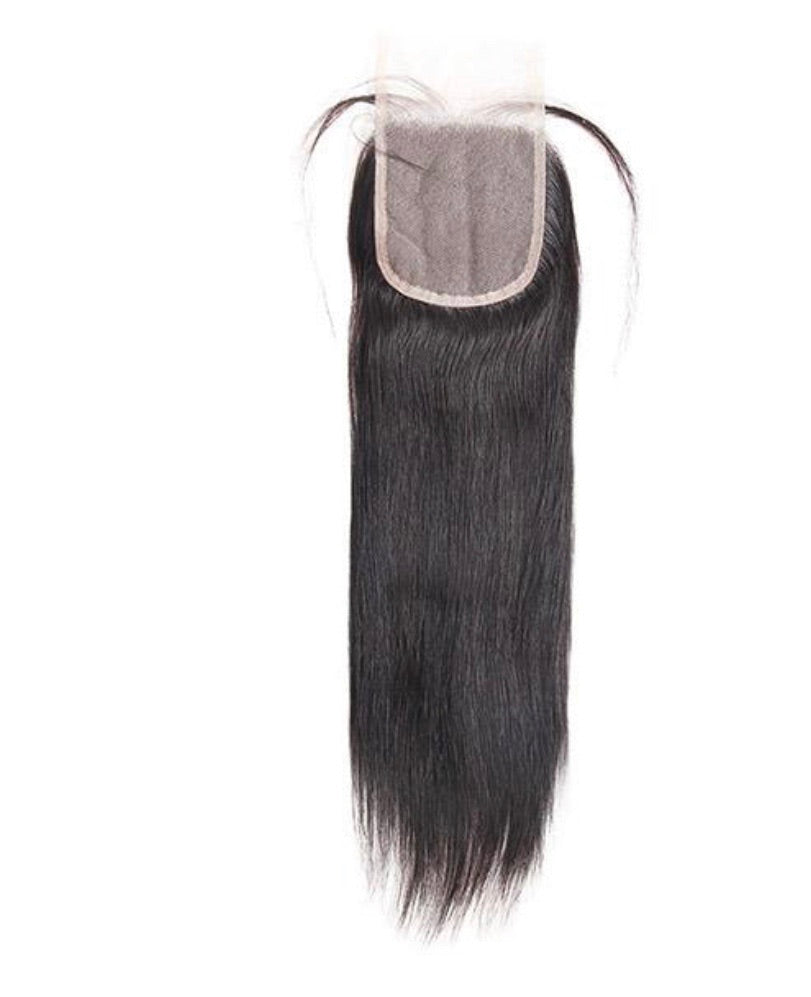 Straight Transparent Human Hair 4x4 Lace Closure