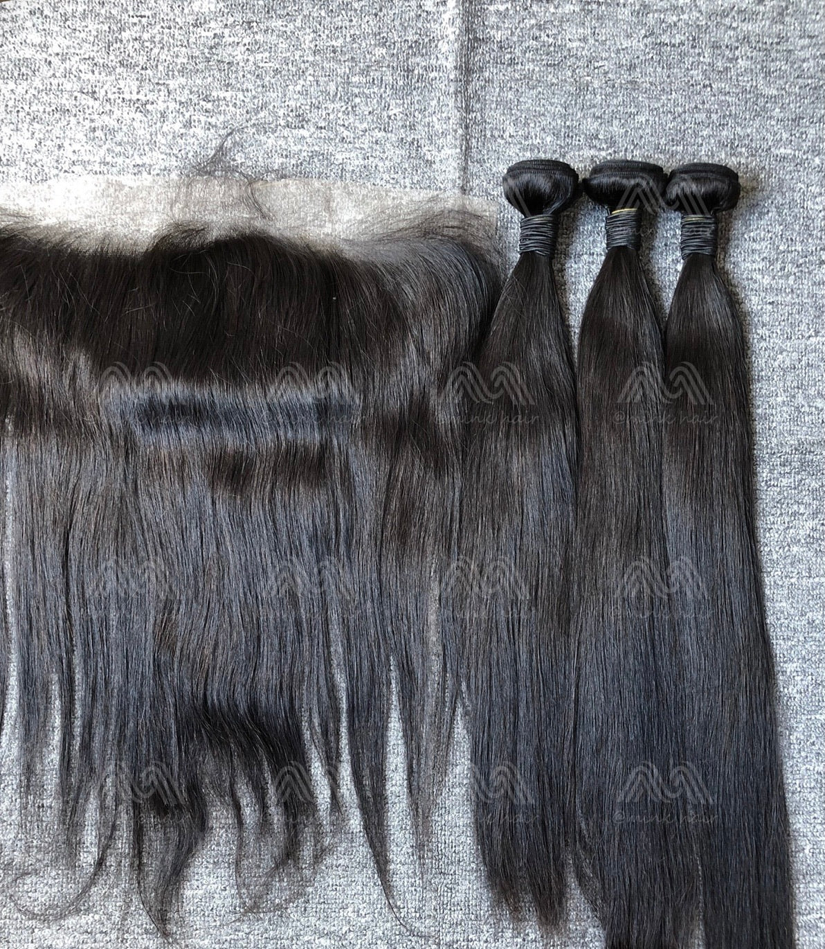 Mink Hair Straight 3 Bundles With 13x4 Frontal Deals