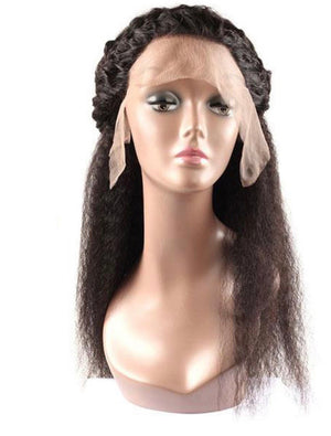 13*4 Kinky Straight Human Hair Wigs Lace Front Wig