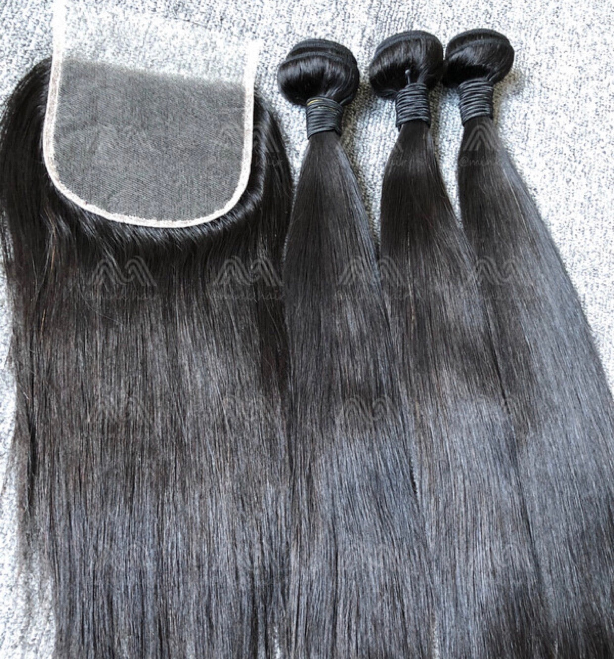 Mink Hair Straight/Body Wave 3 Bundles With 5x5 HD Closure Deals