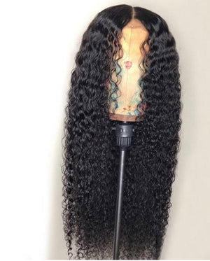 13*4 Kinky Curly Human Hair Wigs Lace Front Wig