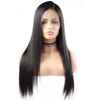 360 Straight Human Hair Wigs Lace Front Wig