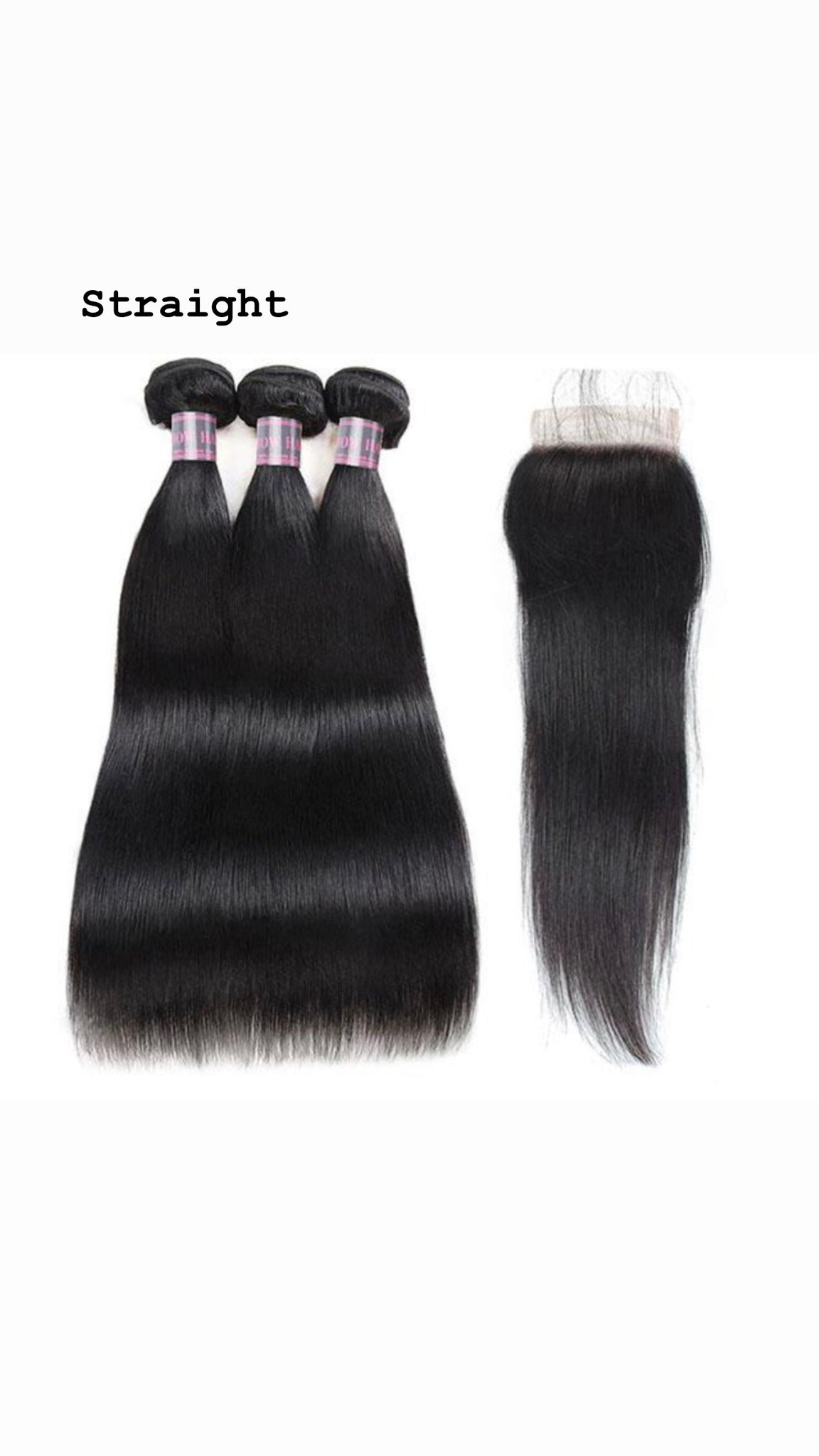 Malaysian 3 Bundles With 4*4 Closure
