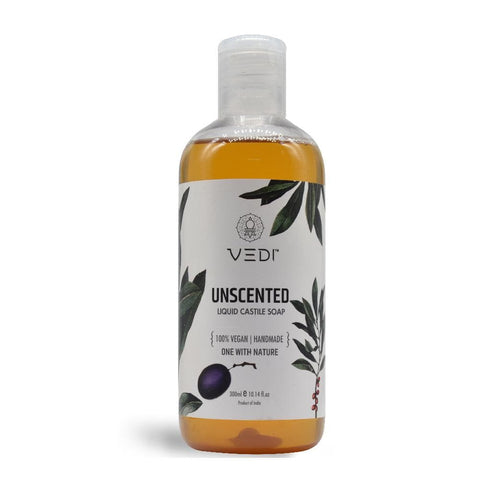 UNSCENTED LIQUID CASTILE SOAP(300ml)