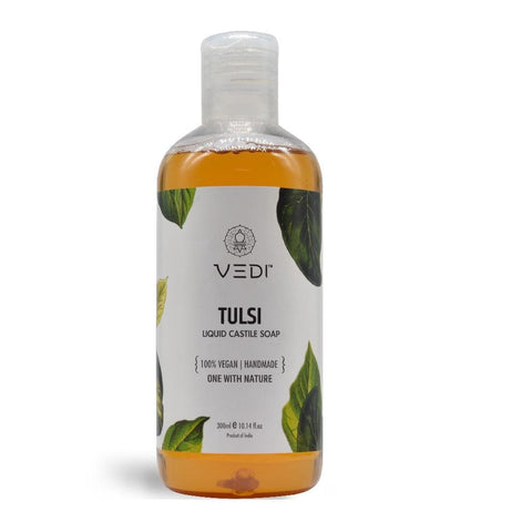 TULSI LIQUID CASTILE SOAP(300ml)