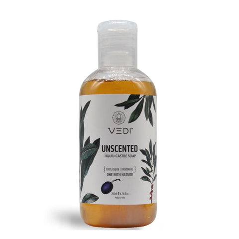 UNSCENTED LIQUID CASTILE SOAP(200ml)