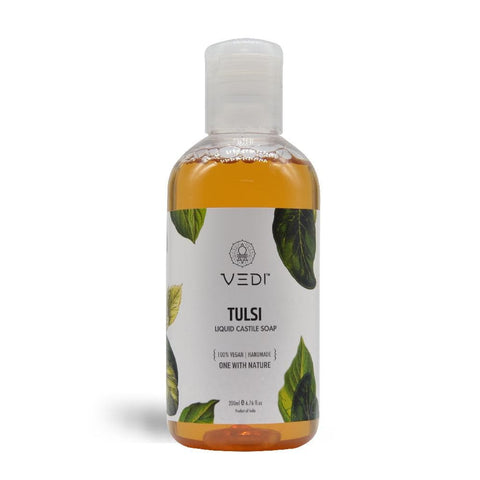 TULSI LIQUID CASTILE SOAP(200ml)