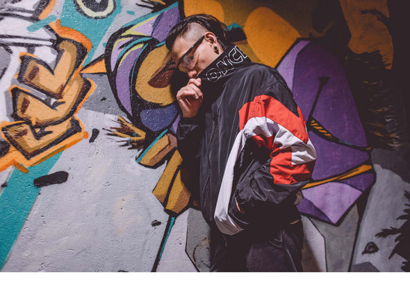 Patchwork Vintage Windbreaker
