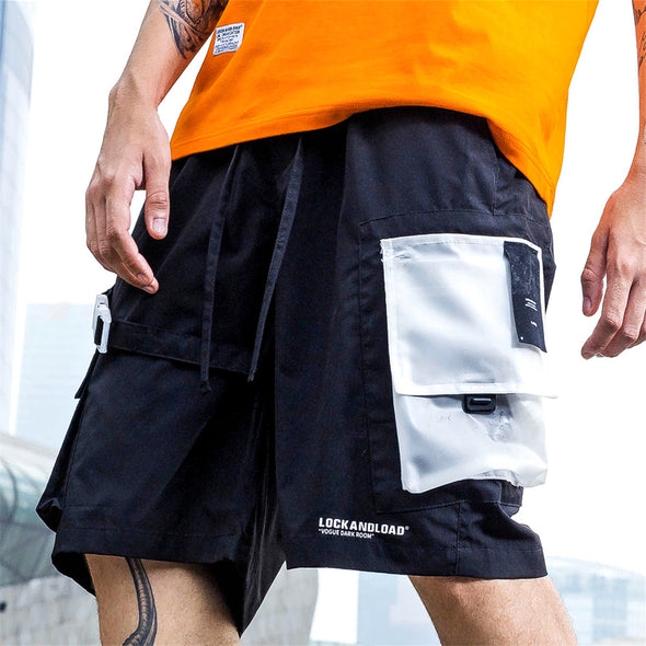 Transparent Pocket Utility Shorts