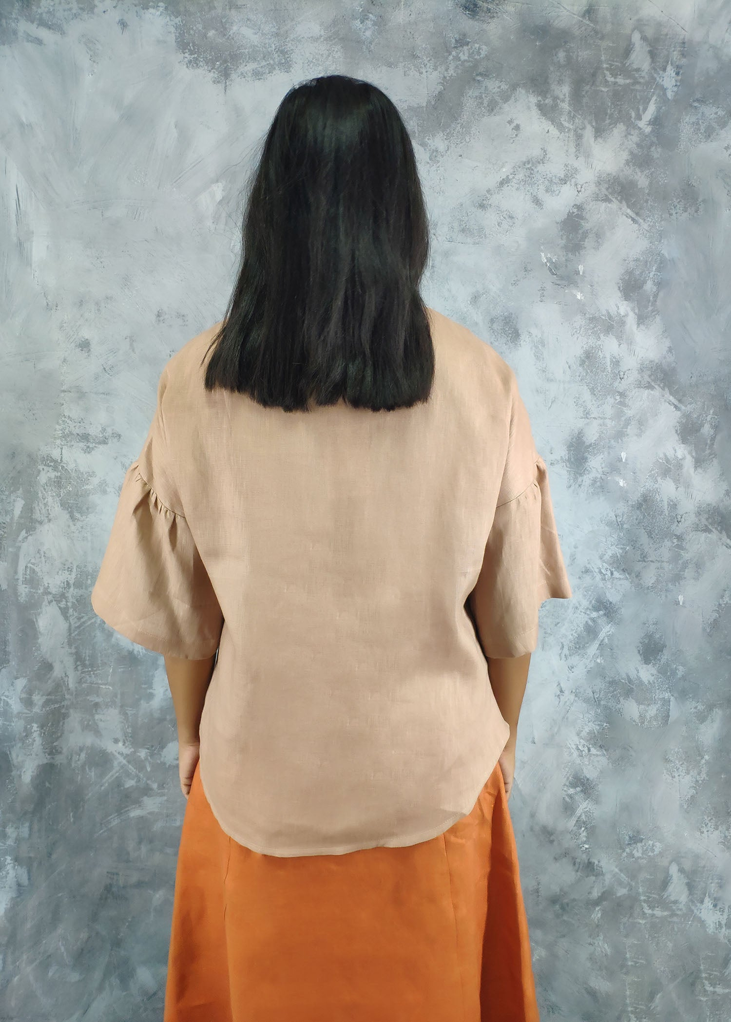 Dropped Shoulder With Sleeve Detail