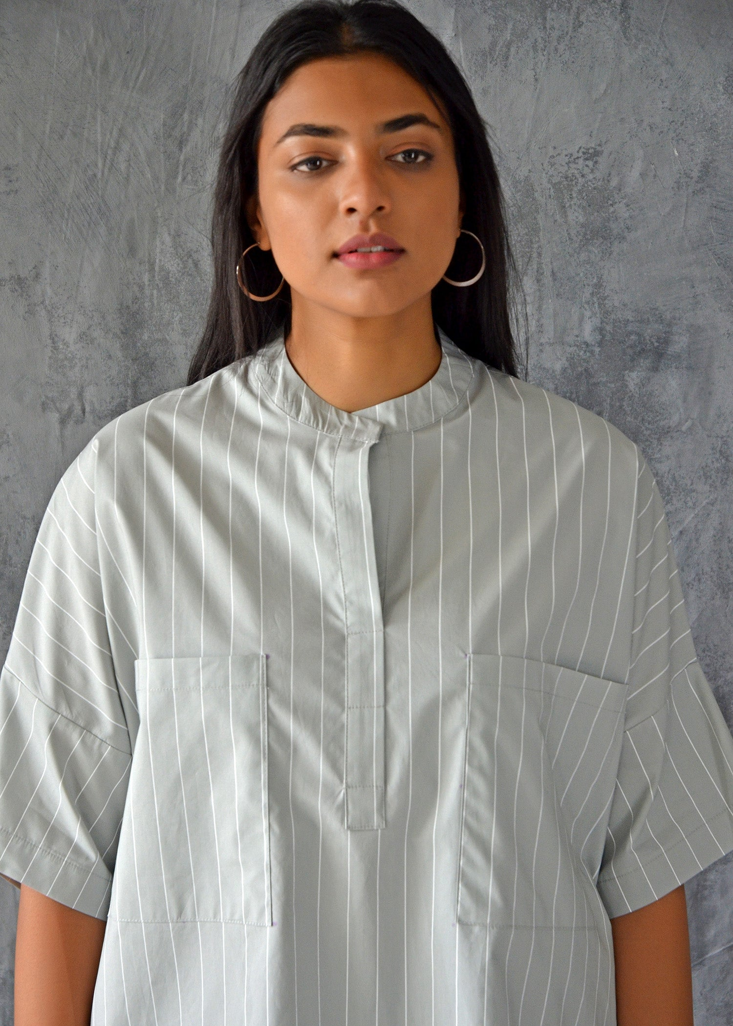 Boxy Shirt With Patch Pockets