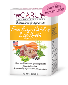 Caru Free Range Chicken Both Broth for Dogs & Cats