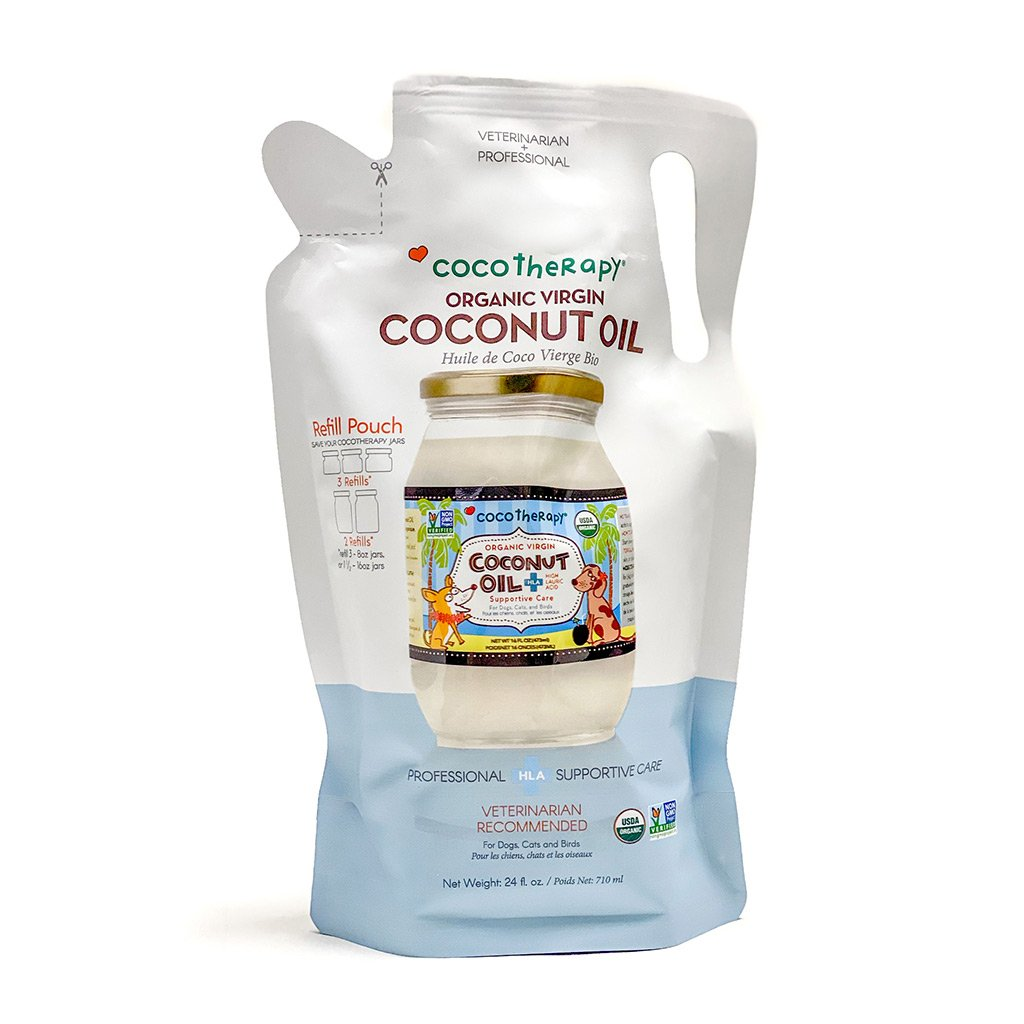 CocoTherapy Organic Virgin Coconut Oil Refill Pouch