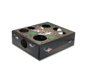 DoyenWorld Koi Pond Puzzle Box with Catnip Balls