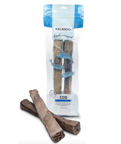 Icelandic+ Cod Skin Long Chew Stick 10in (2 Pieces)