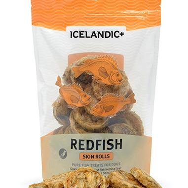 Icelandic+ Redfish Skin Rolls Dog Treat
