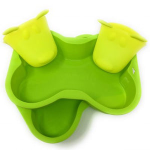 Dog Bone Baking Pans & Oven Mitts - Silicone