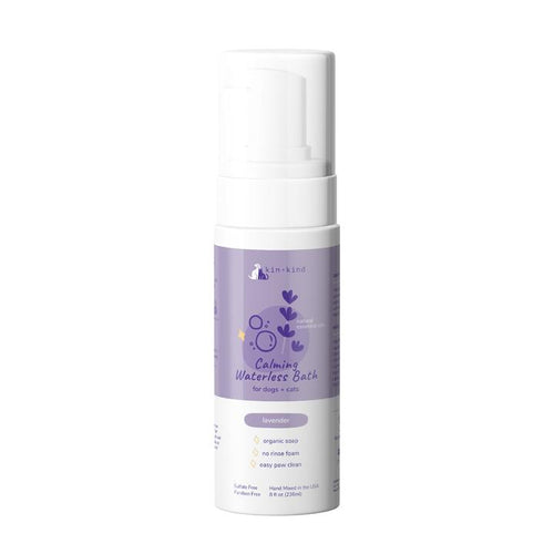kin+kind Lavender Calm Waterless Foaming Shampoo for Dogs & Cats