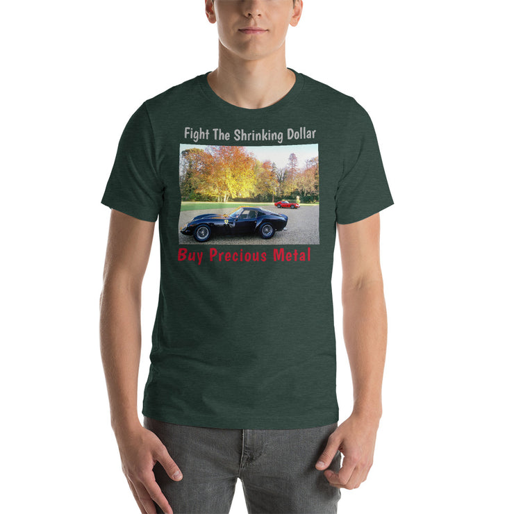 "Ferrari 250 GTO ""Shrinking Dollar"" Short-Sleeve Unisex T-Shirt"