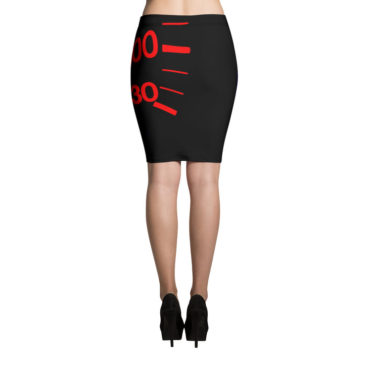 Ferrari 512 BB Speedometer Pencil Skirt