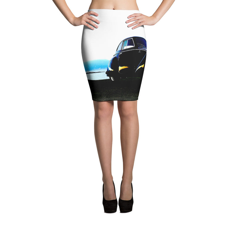 Alfa Romeo 8C2900 Colored Pencil Skirt