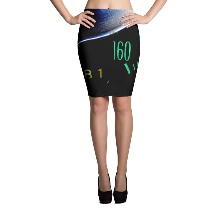 Chevrolet Corvette C2 Speedometer Pencil Skirt