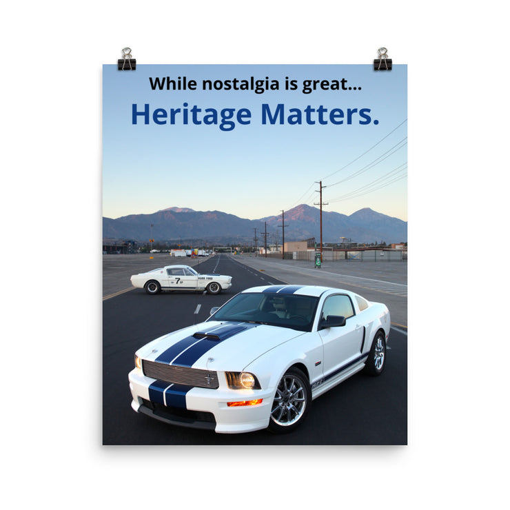 "Shelby GT & Shelby GT350R ""Heritage"" Print"