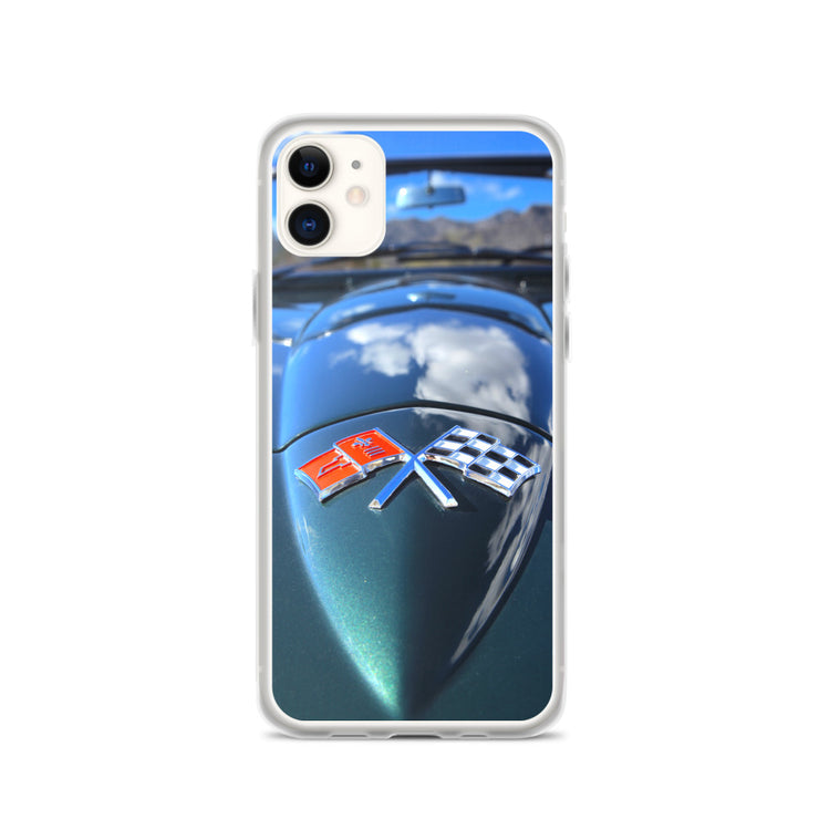 Chevrolet Corvette Hood Emblem iPhone Case