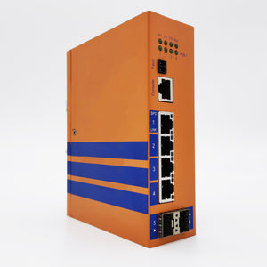 HES6GM-4E-2SFP-VLW - DIN-Rail Managed, 4 x  1000Mbps POE Copper Port, 2 x  1000Mbps SFP Fiber Port, Wide Temperature