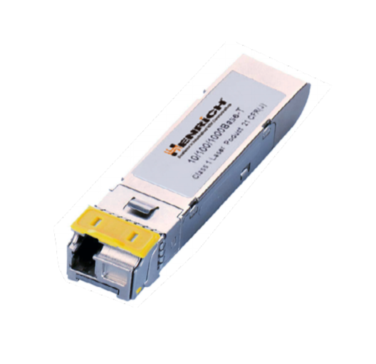 SFP-20-W - Single-Mode Fiber Port with LC Connector, TX1310nm, 20KM, 155Mbps Industrial Wide Temperature: -40°C to +85°C.