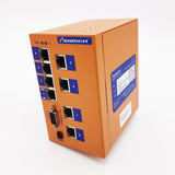 HES10M-2G-VLW - Din-rail Managed, 8 x 100Mbps Copper Port, 2 x Gigabit combo port, Wide Temperature