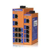 HES8A-2SST-VLW -  DIN-Rail Unmanaged, 6 x  100Mbps Copper Port, 2 x Fiber Port,  Single Mode 20KM, ST Interface, Wide Temperature