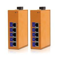 HES5G-VLW -  DIN-Rail Unmanaged, 5 x 1000Mbps Copper Port, Wide Temperature