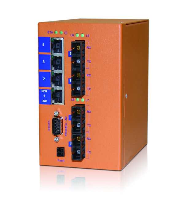 HES8M-VL - Din-rail Managed, 8 x 100Mbps Copper Port