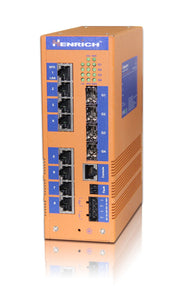 MX6012GLN-12SFP-VLW - Layer 3 Rackmount Managed, 12 x Gigabit SFP Fiber Port, Wide Temperature