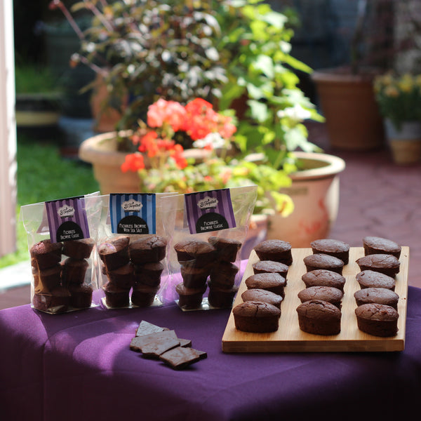 B-Tempted gluten free chocolate lovers selection pack of flourless brownies